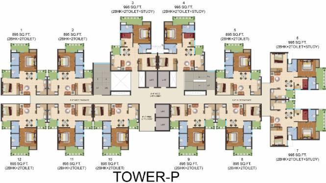 Ajnara Prime Tower Cluster Plan