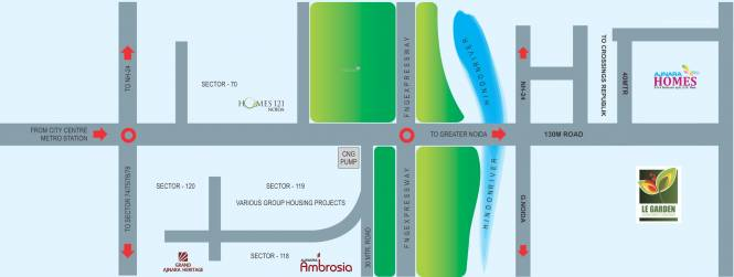 Ajnara Prime Tower Location Plan