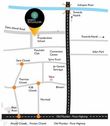 Neev Saheels Fortune Park Location Plan