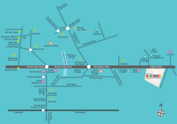 Nandan Carnival B Building Location Plan