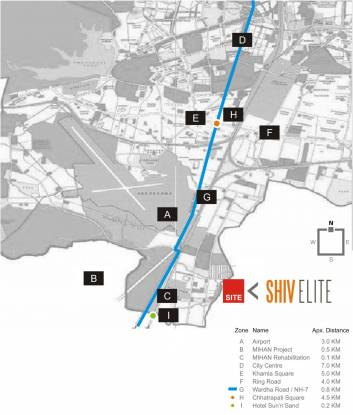 Om Shivam Shiv Elite Phase IV Location Plan