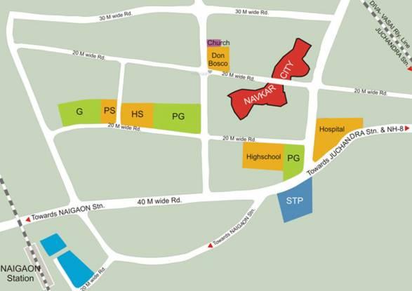 Navkar City Phase I Part 1 Location Plan