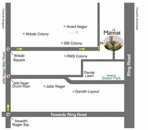 Green Amans Mannat Location Plan