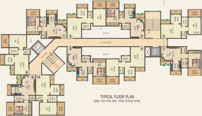 KM Narmada Mohan Apartment Cluster Plan