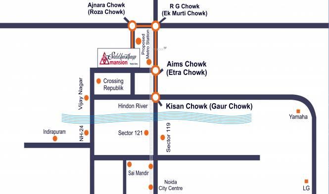 Siddhartham Mansion Location Plan