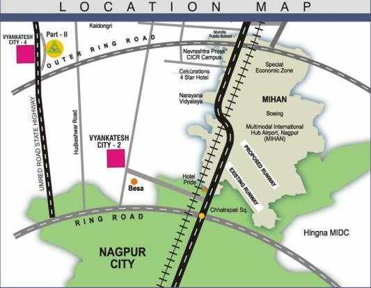 Vyankatesh City 4 Villa Location Plan
