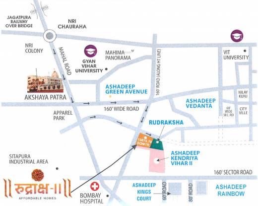 Ashadeep Rudraksha II Location Plan