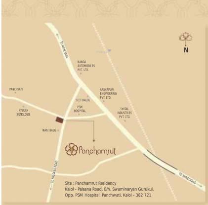 R Sheladia Panchamrut Location Plan