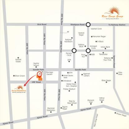 Ravi Surya Residency Location Plan