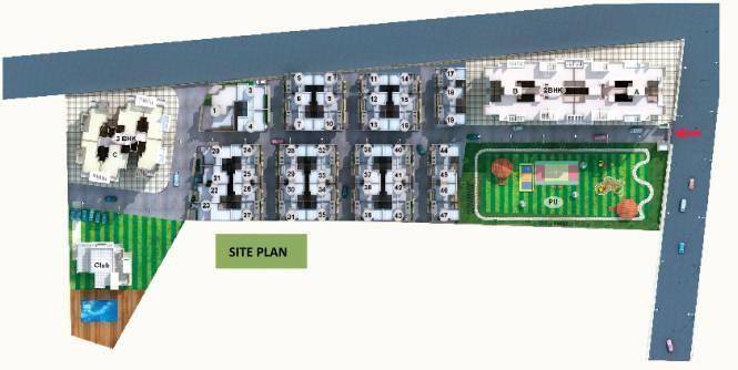 Pyramid City 5 Villa Site Plan