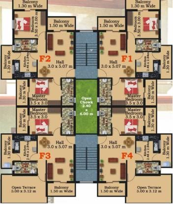 Megha Church View Residency Cluster Plan