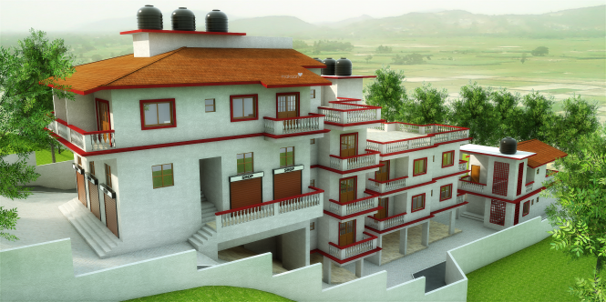 Megha Mother Agnes Field View Elevation