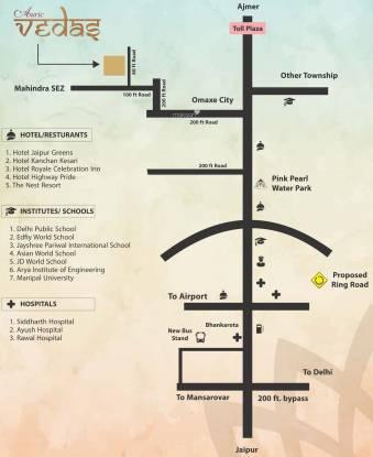 Auric Vedas Location Plan