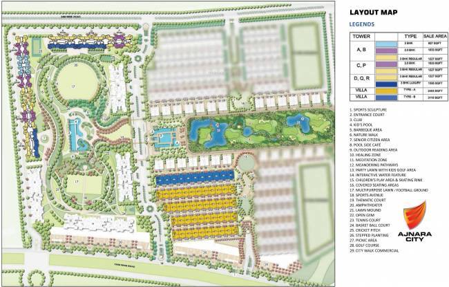 Ajnara Olive Greens in Knowledge Park V, Greater Noida - Flats for ...