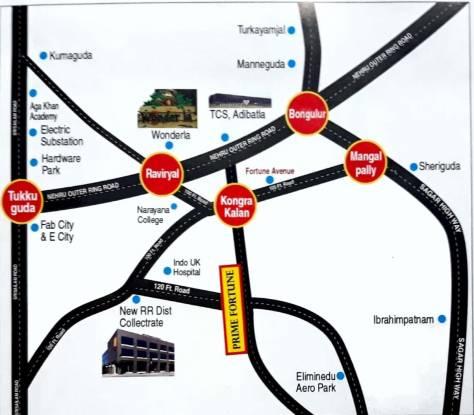 Sathguru Prime Fortune Location Plan