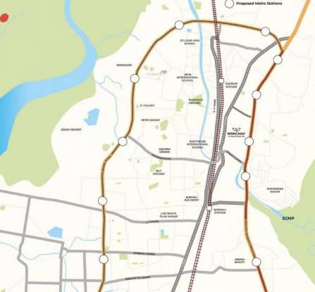 Chandak Nishchay Wing D Location Plan