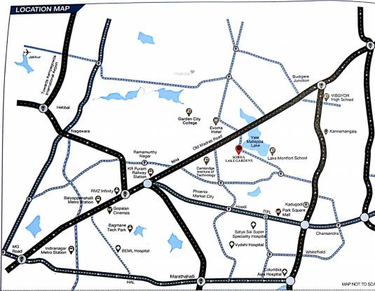 Sobha Lake Garden Location Plan