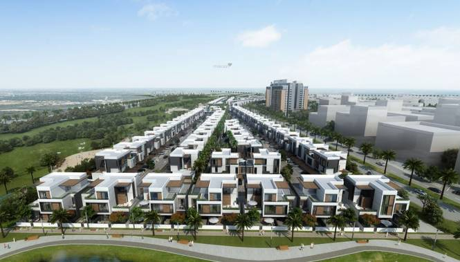 Dubai Park Lane Townhouses Elevation