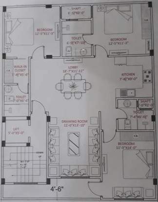 B M Aggarrwal Homes Cluster Plan