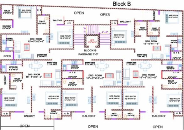 Kiera Silver Oakwood Apartment Cluster Plan
