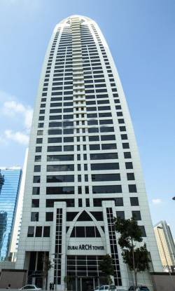 Aber Dubai Arch Tower Elevation