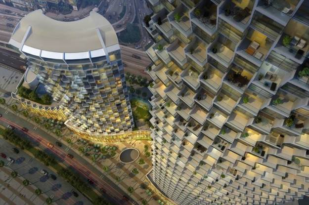 Emaar Burj Vista 2 Elevation