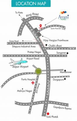 Real Avani Homes Location Plan
