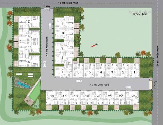 Trimurti Dutt Residency Layout Plan