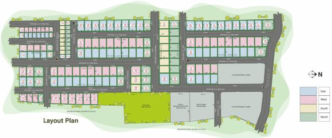 Avani Serene Hills County Layout Plan