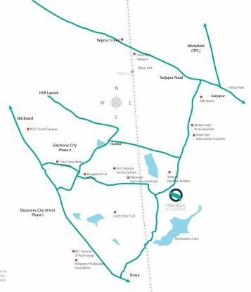 Sri Tirumala Tranquil Residency Location Plan