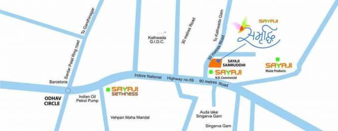 Sayaji Samruddhi Location Plan