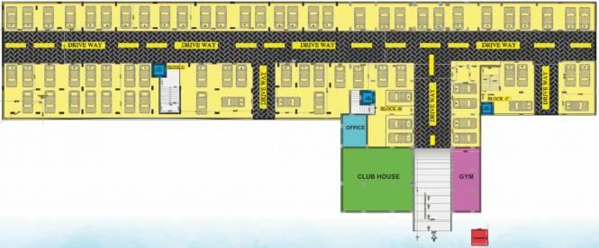 Kruthi Sai Cambridge Residency Cluster Plan