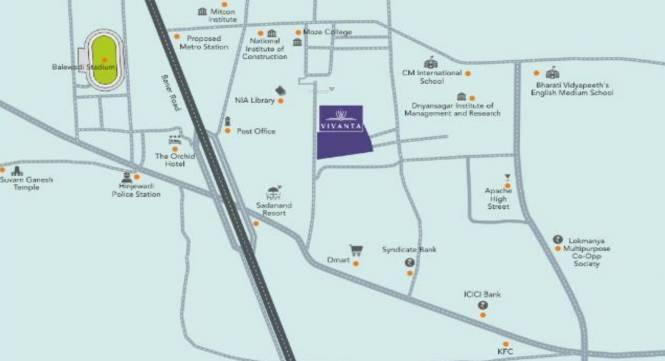 Malpani Vivanta Location Plan
