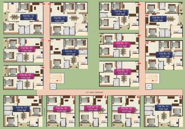 SR Sai Ram Residency Cluster Plan