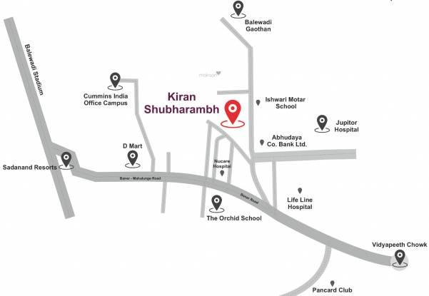 Kiran Shubharambh Location Plan