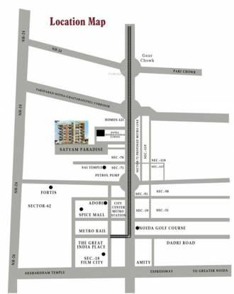 Satyam Paradise Location Plan