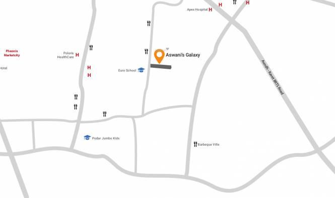 Aswani Galaxy Location Plan