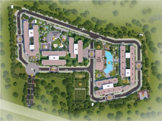 Amanora Gold Towers 44 45 And 46 Layout Plan
