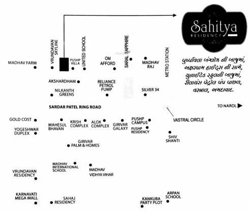 Shri Hari Sahitya Residency Location Plan