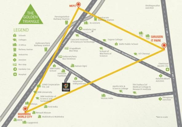 Urbanrise Jubliee Residences Location Plan