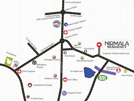 Nirmala Residency Location Plan