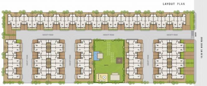 NB Parshwa Homes Layout Plan