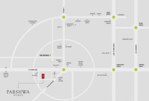 NB Parshwa Homes Location Plan