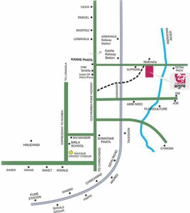 Calyx Atulya Raghukul Location Plan