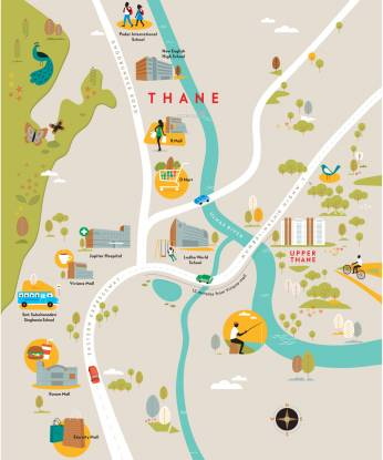 Lodha Upper Thane Woodlands E And F Location Plan