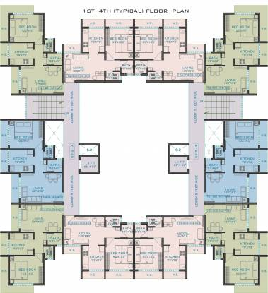 Space Gold Crest Cluster Plan