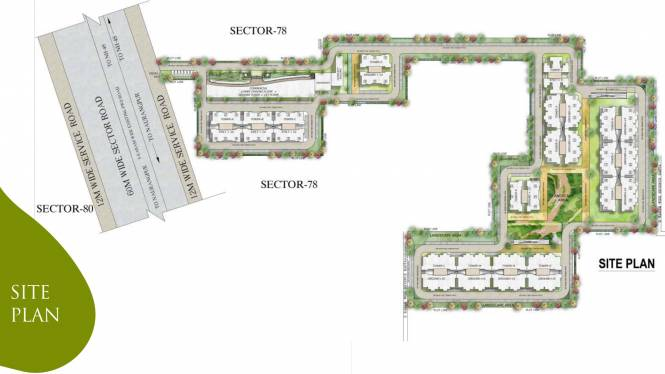 Supertech The Valley Site Plan