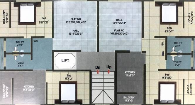 Someshwar Diamond Lakewood Cluster Plan
