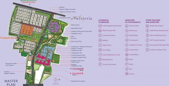 Brigade Plumeria Lifestyle At Brigade Meadows Layout Plan