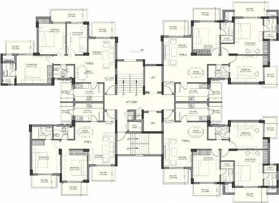 Ashiana White Petals Cluster Plan